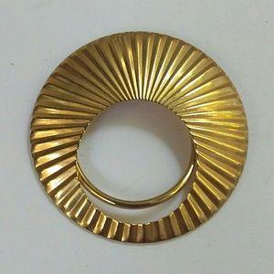 Vintage Jeri Lou Gold Tone Scarf Clip